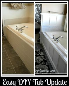 Updated 90's Bathtub in One Weekend With Less Than $200.