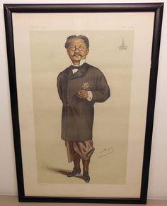 SOLD!  Vanity Fair original 1879 Spy Siam Lithograph HE Phya Bhaskarawongse No. 313