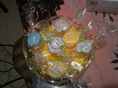 Washcloth candies for baby shower
