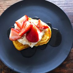 Keto Palena Fresh with whipped ricotta and strawberries with only 4.6g carbs. X