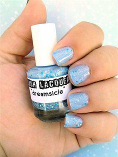 Dreamsicle :  Custom-Blended Glitter Nail Polish / Lacquer. $8.75, via Etsy.