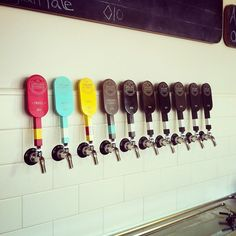 """Railway signal inspired tap handles"""