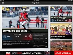college football apps   ESPN College Football iPad app