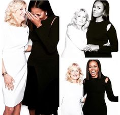 first lady michelle obama with second lady dr. jill biden I think this just may be the pic of these two wonderful woman I've seen. And I Luv It! Michelle Und Barack Obama, Michelle Obama Fashion, Barack Obama Family, Malia Obama, Presidents Wives, Black Presidents, American Presidents, Joe Biden, Durham