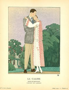 Celebrating Love!  and Spring!  and Valentines Day!  A.E. Marty 1922 Fashion Plate