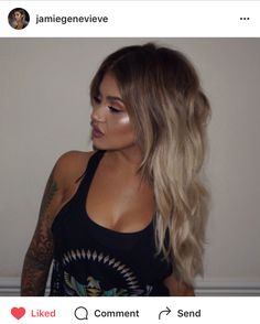 #blonde #hair #jamiegenevieve #ombre #sombre #baylayage #balayage #extensions #browntoblonde