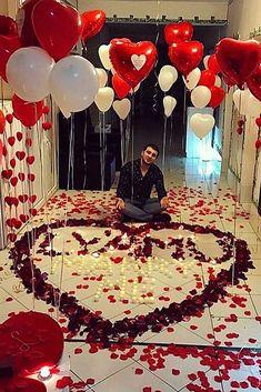 21 So Sweet Valentine 's Day Ideas – Neue Ideen - Valentinstag Romantic Ways To Propose, Romantic Room Surprise, Romantic Proposal, Romantic Night, Romantic Dinners, Romantic Gifts, Proposal Ideas, Cute Ways To Propose, Romantic Candles