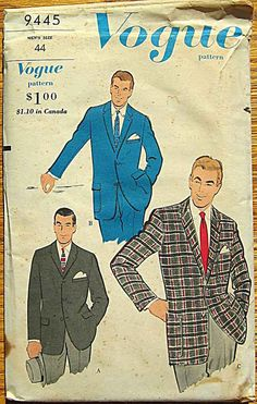 Note: Basic men's look in the 1950s ____________________________________ 1950's men's fashion... not much has changed