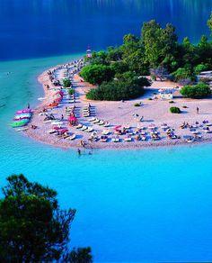 Oludeniz Beach, Turkey - http://www.traveltofethiye.co.uk/explore/attractions/oludeniz-blue-lagoon/