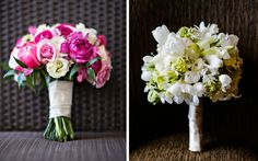 posy bouquet:A classic and popular choice for brides, posy bouquets are small enough to be held in the hands and feature mostly flowers. These types of bouquets typically feature a rounded shape and are wrapped with ribbon