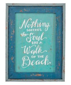 Another great find on #zulily! Blue Distressed 'Walk by the Beach' Wood Sign #zulilyfinds