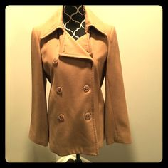 J. Crew Pea Coat Gorgeous camel colored pea coat from J. Crew. Worn just a couple times. Still in excellent condition! Very flattering. Looks great on! J. Crew Jackets & Coats Pea Coats