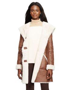Faux-Shearling Coat - Lauren Outerwear - RalphLauren.com