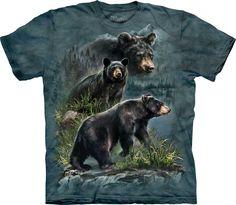 Tres osos negros. #3590