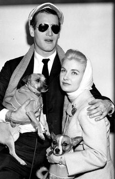 "Paul Newman & wife, Joanne Woodward-He was in many movies & at least 2 with Robert Redford (""The Sting"" & ""Butch Cassidy and the Sundance Kid"").-very good movies although vintage now- both men were considered ""hotties"". Robert Redford is still living.Paul Newman, although deceased, still has many products like Salad Dressing with his name. Joanne was a movie star also, I believe. They were married for many yrs I believe up until his death."