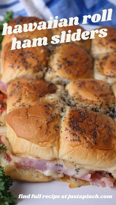 Inexpensive Appetizers, Best Appetizers, Appetizer Recipes, Snack Recipes, Ham Sliders, Slider Sandwiches, Deli Sandwiches, Sweet Dinner Rolls, Beef Recipes