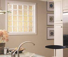 Puertas con laterales ladrillos de vidrio buscar con - Como colocar ladrillos de vidrio ...