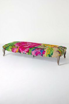 Kilim Rose Bench - Anthropologie.com (as a coffee table in front of couch)