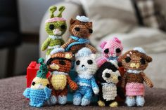 Octonauts amigurami Crochet Toys, Knit Crochet, Crocheting, Dolls, Christmas Ornaments, Knitting, Holiday Decor, Birthday, Party