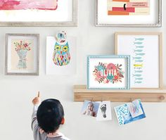 Inspire the love of art in your little one with a colorful gallery wall from Minted's collection of wall art prints.