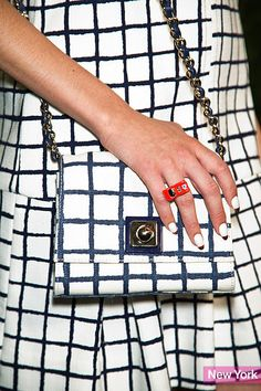 nyfw kate spade accessories.  Slide 13 of 27 Spring 2014 Fashion Week Accessory: Kate Spade's Checkered Cross-Body Bag