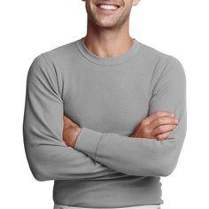 Hanes Men's X-Temp Thermal Underwear Crew Tee, Size: Medium, Gray