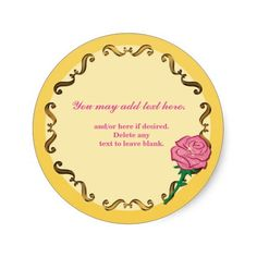 Be Our Guest-Pink Rose Birthday Party Sticker Round Sticker