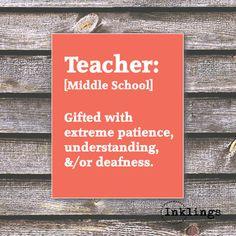 8x10 Printable / Digital Poster 'TeacherMiddle by inklingsposters, $5.00