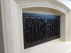 Good Custom Wrought Iron Fireplace Door #FireplaceDoorGuy #Tuscan