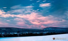 Pink sky over the Baraboo Hills - skilletcreekphotography.com