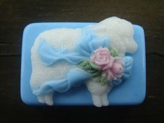 Easter Soap by Bloom Decorative Soaps Decorative Soaps, Holiday Themes, Handmade Soaps, Soap Making, Fragrances, Sheep, Great Gifts, Dish, Bloom