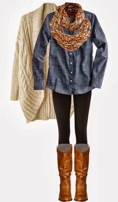 World of Women Fashion: Combination of Blue Blouse and White Cardigan with...