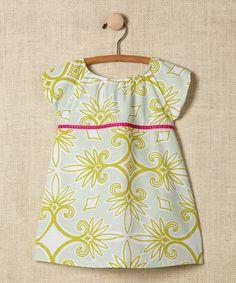 07fe3feb5e5 Ava Loves Olli Green Damask Babydoll Dress - Toddler   Girls