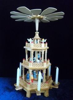 Marvelous Wooden Carousel with Candle Fueled by DayJahView on Etsy, $150.00