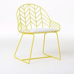 West Elm Bend Dining Chair, Set of 2, Yellow