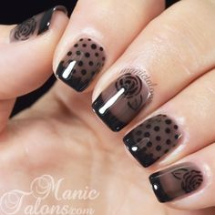 Nail art Sheer Black Nail Art with BMC Smoke + Mirrors