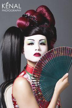Avant Garde Geisha by Kenal louis, via Behance
