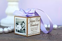 This is on Etsy but what a great idea for weddings or babies...decorate however you would like and use as Christmas ornaments or decoration