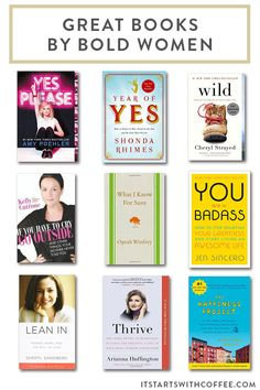 great books from bold women authors that you will find inspiring, fun, motivation and enjoyable to read if you are looking for new books.