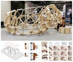 Digital Wood - Design & fabrication of a full-scale exhibition structure in plywood Team : Viktoria Henriksson, Emil Poulsen and Oscar G...