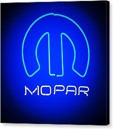 Mopar Neon Sign Canvas Print by Jill Reger