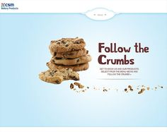 CSM Bakery Products - Follow the Crumbs - CoolHomepages Web Design Gallery