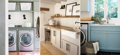 Which of these laundry rooms do you wish was yours?