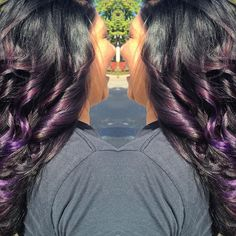 Switched it up for Alisa today!!! Joico Intensities  wild Orchid & Indigo!!!! Love it