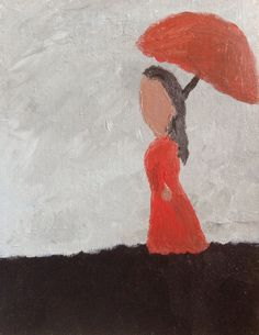 """This is our latest acrylic painting, """"The Lady With The Umbrella"""". We hope you enjoy it."""