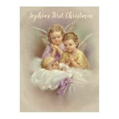 Personalized Guardian Angel Cherubs baby in Cloud Fleece Blanket  #catholic #catholicgifts #blankets #traditionalcatholic