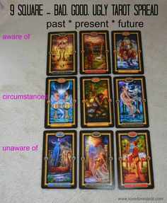 9 Square - Bad, Good & Ugly Tarot Spread