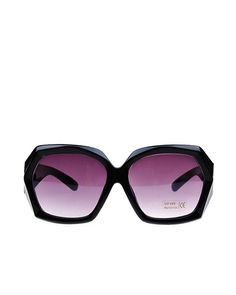 16026a277cb6 Transparent Polished Black Diamond Frame Oversized Sunglasses   yoyomelodydress Popular Sunglasses