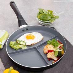 Keramische pan, met 3-voudige onderverdeling