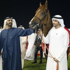 Mohammed RSM y Hamdan MRM, Godolphin gana la DWC 2014, 29/03/2014. Vía: faz3